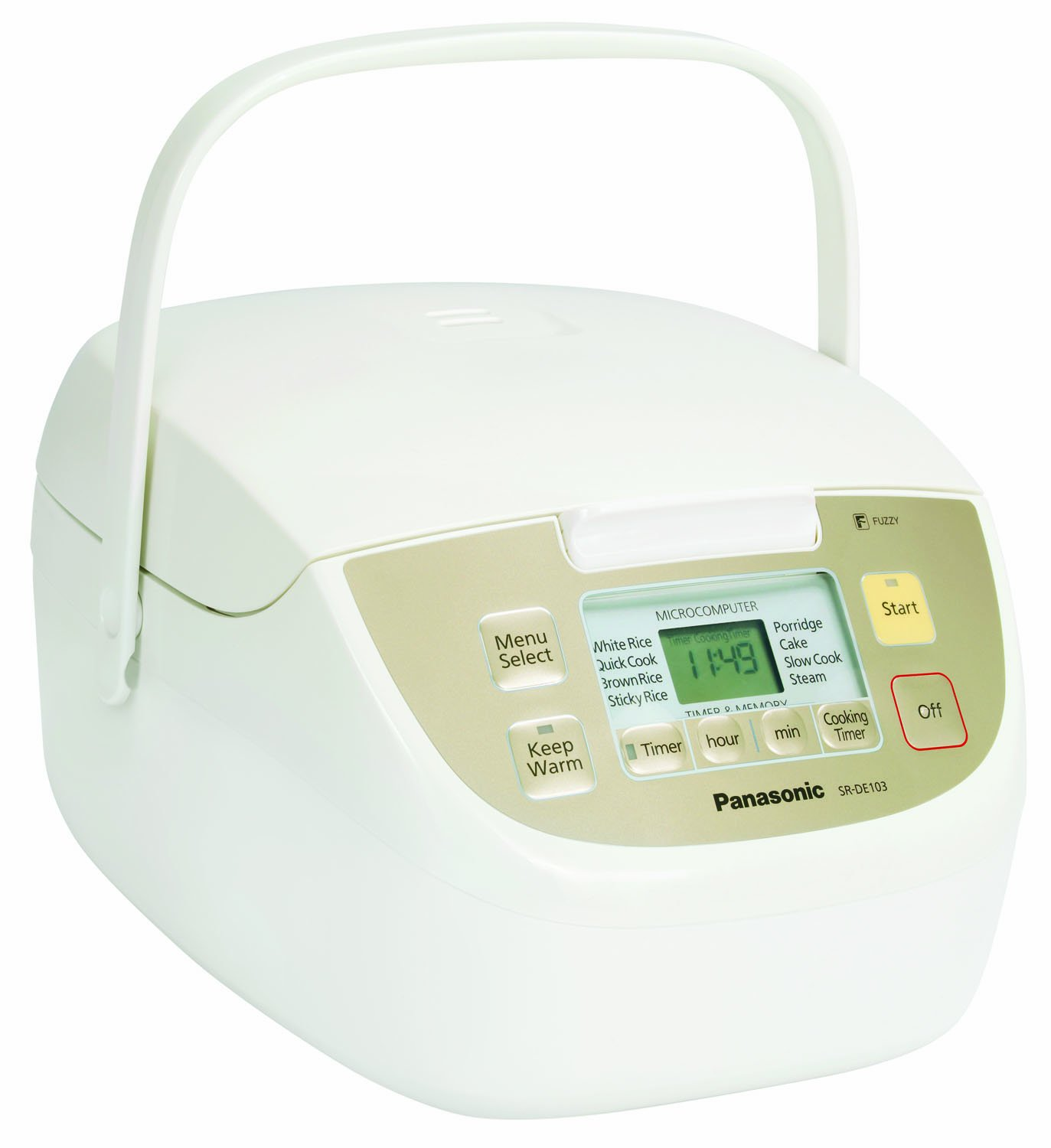 Panasonic SR-DE103 Fuzzy Logic 8 Pre-Program Rice Cooker