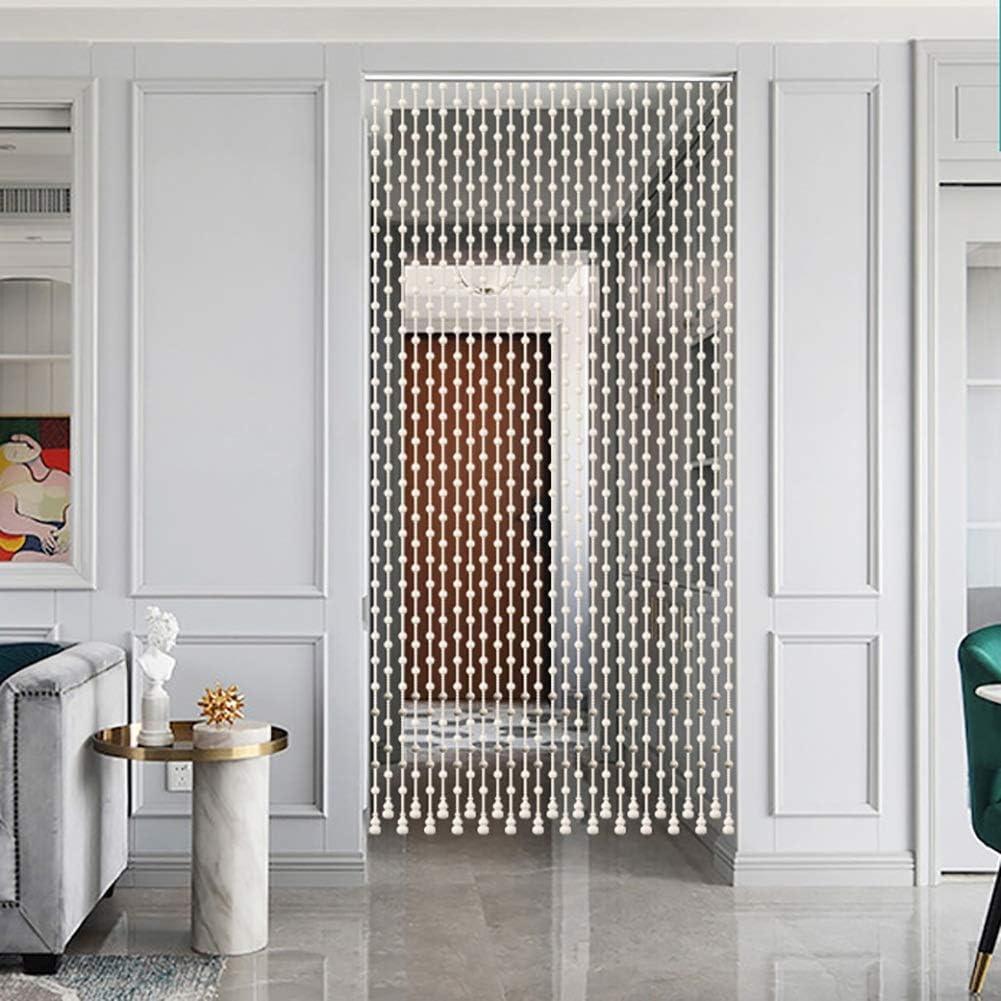 GuoWei-Cortinas de Cuentas Madera Colgante Cuerdas Puerta Panel Tabique Salón Armario Puerta Panel Decoración (Color : White, Size : 25 strands-80cmx198cm): Amazon.es: Hogar