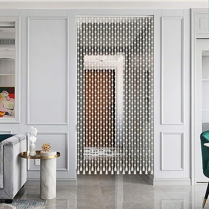 GuoWei-Cortinas de Cuentas Madera Colgante Cuerdas Puerta Panel Tabique Salón Armario Puerta Panel Decoración (Color : A, Size : 25 strands-80cmx198cm): Amazon.es: Hogar