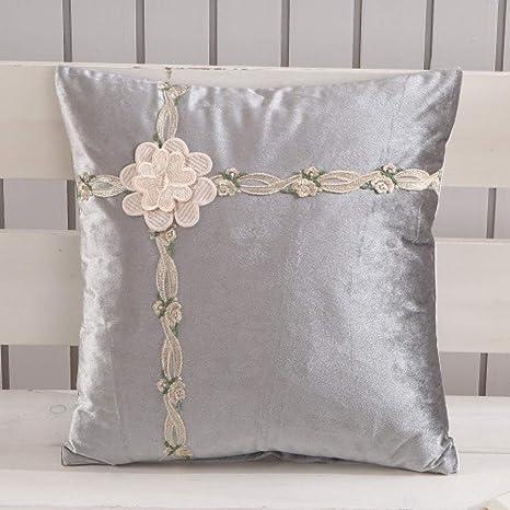 LIJIAYANG Textil Nuevo cojín del sofá cojín Bordado cojín ...
