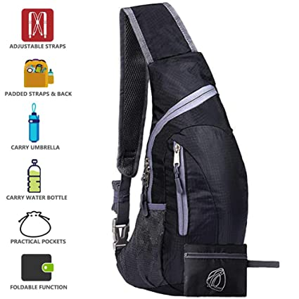 fdb7e4b6f577 Peicees Sling Bags Men Women Shoulder Backpack Mini Chest Day Bag Kids  Small Cross Body(