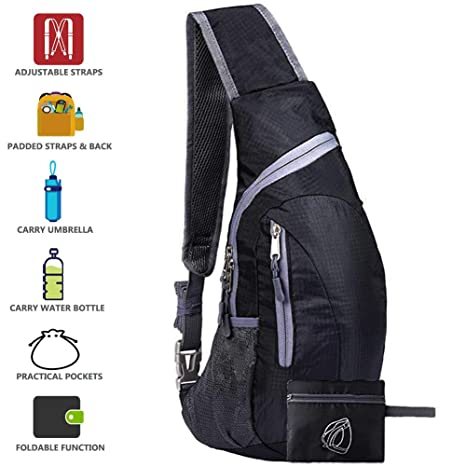 c6e11f45dbd Peicees Sling Bags Men Women Shoulder Backpack Mini Chest Day Bag Kids  Small Cross Body Pack