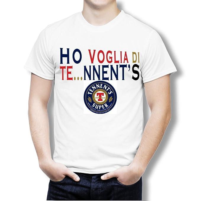 Novesei Tshirt Uomo Ho Voglia Di Tennents Stampa Digitale Diretta