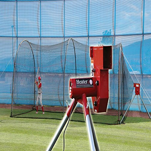 Heater Sports Baseball Pitching Machine & Xtender 24ft Batting Cage by Heater Sports