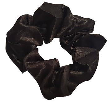 satin hair scrunchies 4 pack black beauty