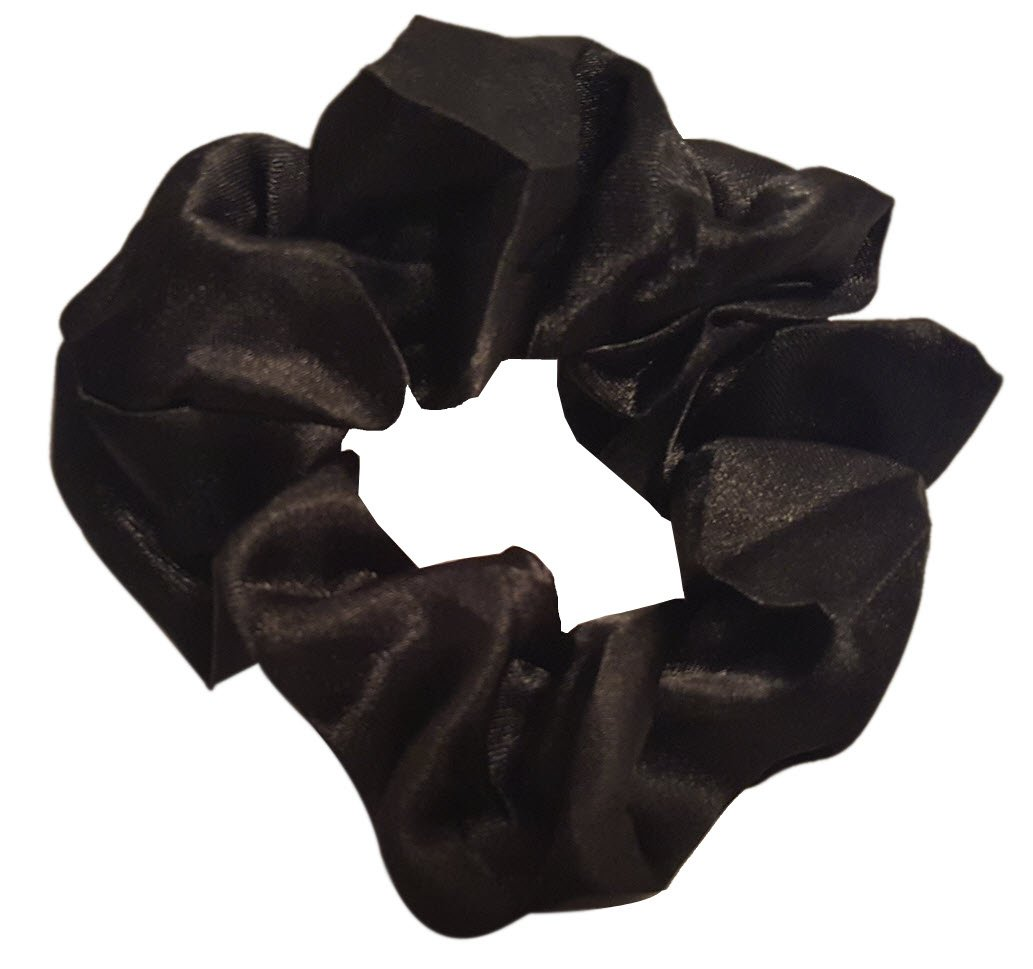 Satin Hair Scrunchies (4 Pack) (black)