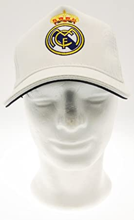 Real Madrid C.F.. - Gorra grabada recal Madrid CF Blanca Adulto ...