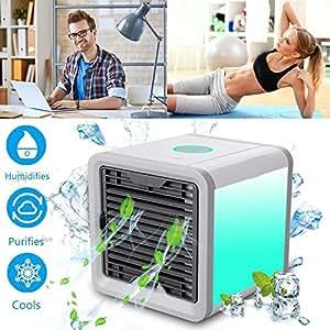 Nifogo aire acondicionado m vil 3en1 mini ventilador for Humidificador aire acondicionado