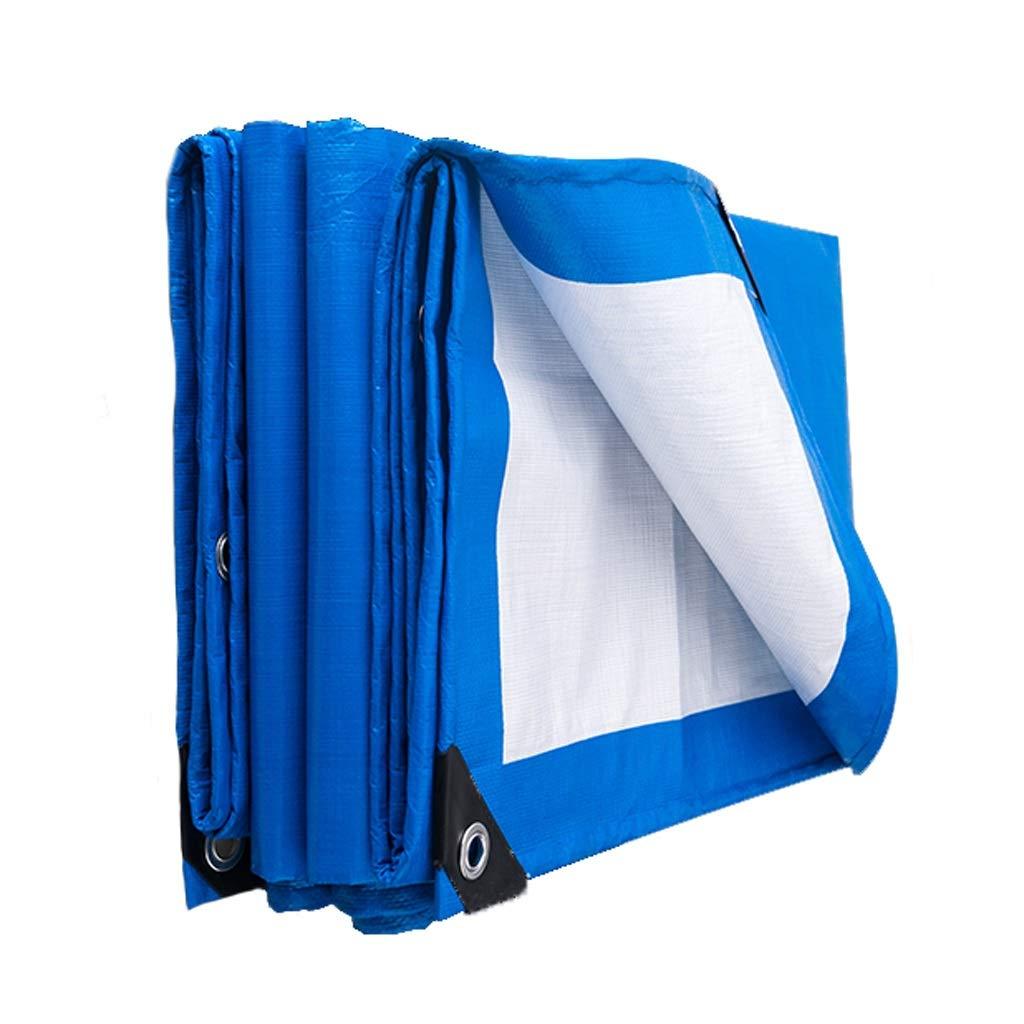 4mx6m Niuniu Tarpaulin imperméable Heavy Duty - Feuille de bÂche Bleue - Couverture de qualité supérieure (Taille   6mx5m)