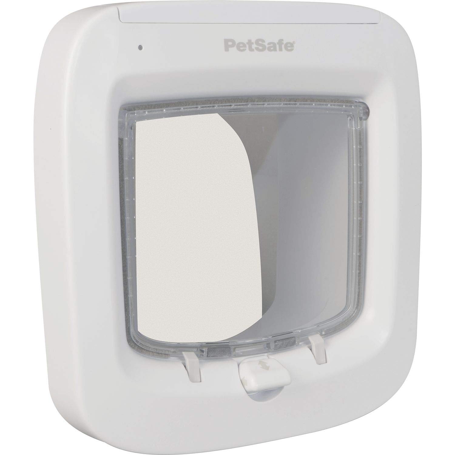 PetSafe Microchip Cat Door, Exclusive Entry with Convenient 4 Way Locking, Easy Install, Energy Efficient