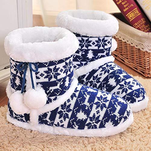 Casa Donna Zlulu Pantofole Maglia Morbide Silenziose A Invernali Comode Interni Calde Ballo Per La Da E vOqdvfwx