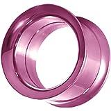 Double Flared Flesh Plug d'oreille en acier inoxydable pour piercing individuel ou en set 2 à 20mm