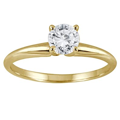 2 carat brilliant natural round cut black diamond solitaire ring in a 14k yellow  gold. Brilliant natural round cut solitaire 1 carat diamond engagement ring  ...
