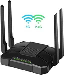 【2020 Newest】 Smart wifi Router Dual Band Gigabit Wireless Internet Router for Home