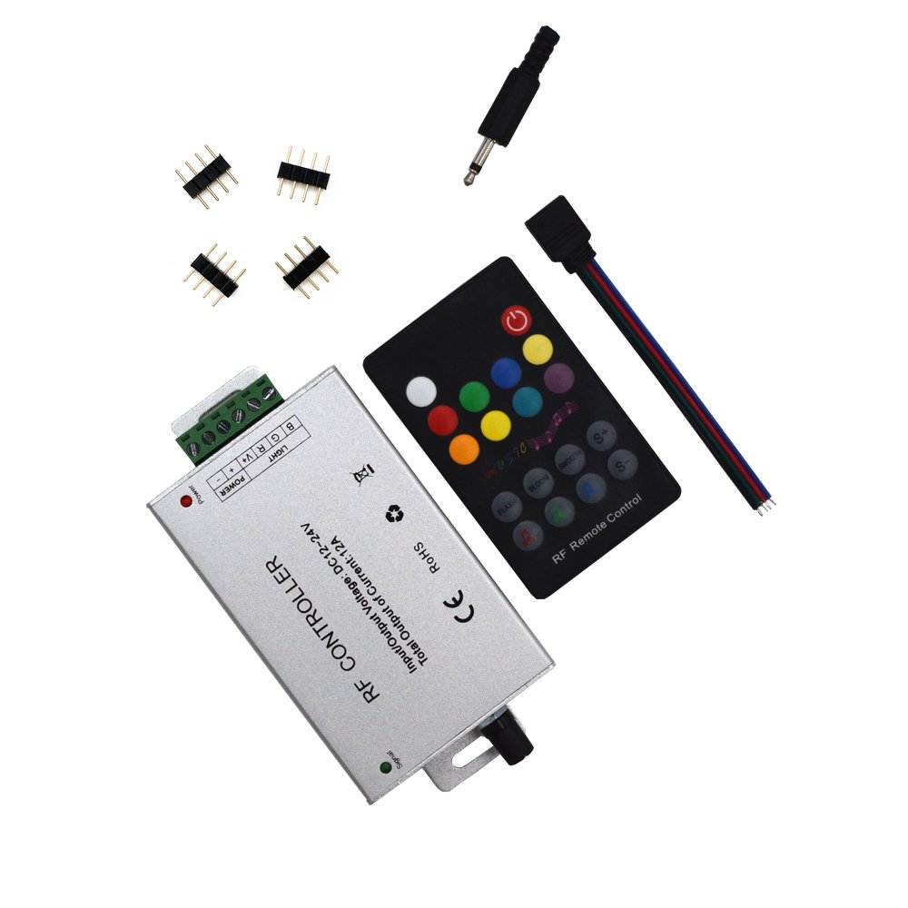 RF 18 Key Music Controller (12A) For 5050 3528 LED Strip Module&RF Remote 12~24V