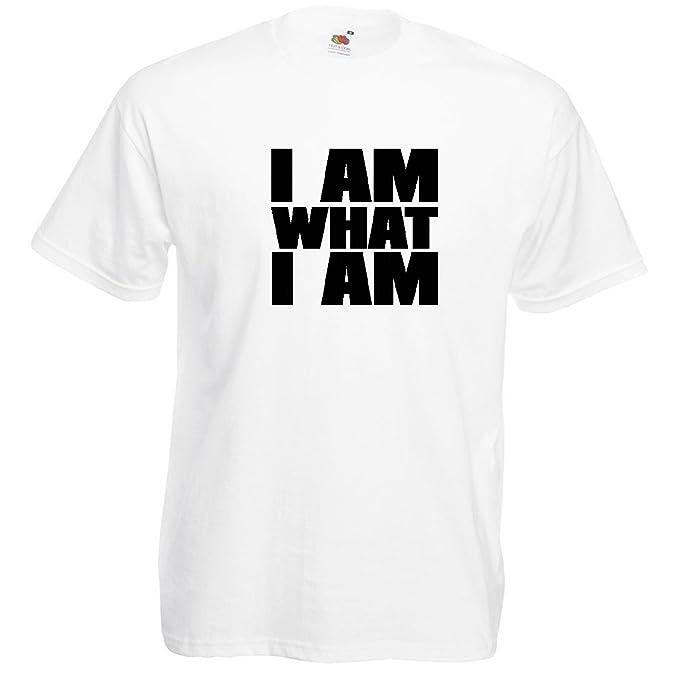 I am what i am T-Shirt Weiß / Druck Schwarz (S)