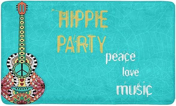 Peace Love Music Door Mats Outdoor Mats