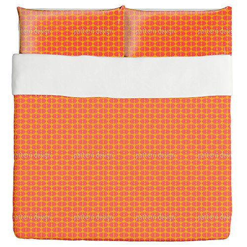 Bamboo Pop Duvet Bed Set 3 Piece Set Duvet Cover - 2 Pillow Shams - Luxury Microfiber, Soft, Breathable by uneekee