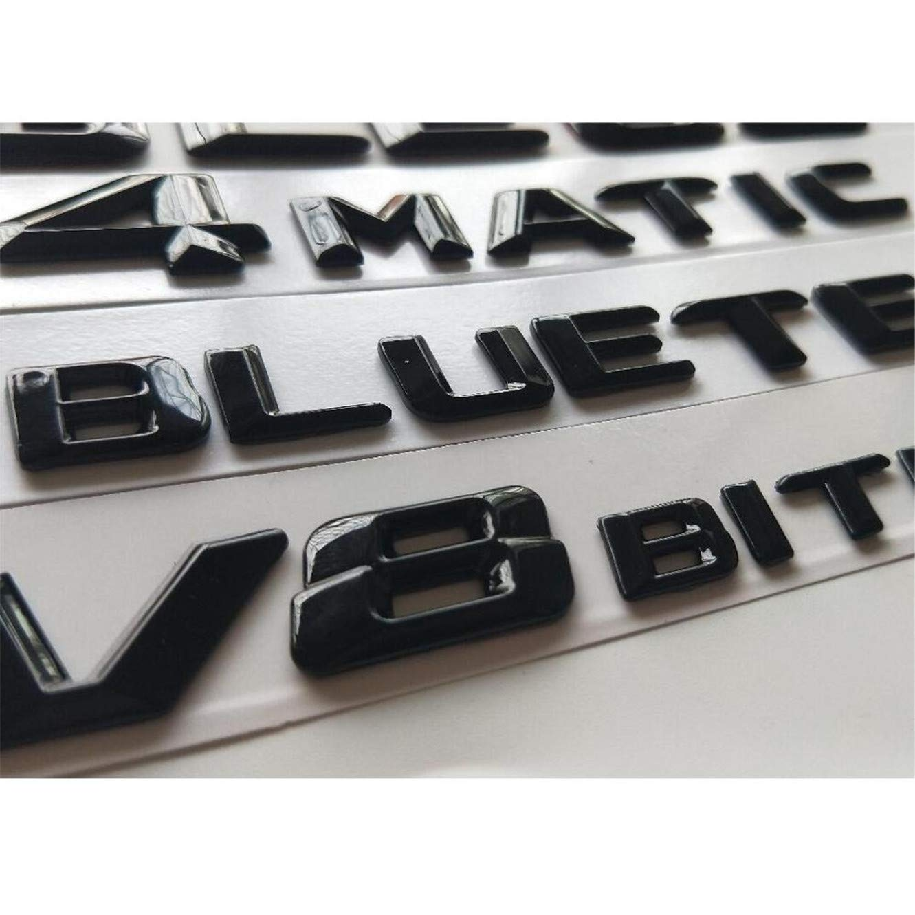 GLC 63s Gloss Black 3D Emblems W204 W205 Coupe C63 W212 W213 E63 W222 S63 CLS63 GLC63 GLE63 AMG 4MATIC V8 BITURBO