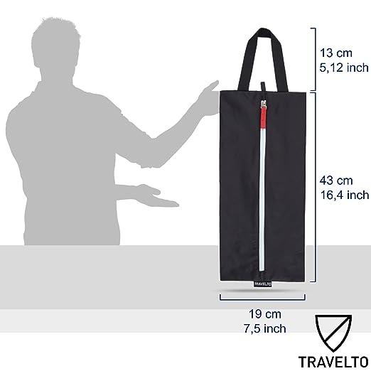 4ed56e8ab TRAVELTO Set de 2 Bolsas para Zapatos de Nylon Resistente con Cierre Ideal  para Viajes - Shoe Bag/botinera/Bolso para Zapatos: Amazon.es: Equipaje