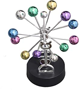 Geocero Physics Mechanics Science Toys - Newton's Cradle, Kinetic Art Asteroid, Perpetual Motion, Balance Balls Desk Toy Home Decoration, Home Office Desk Decoration (Asteroid)