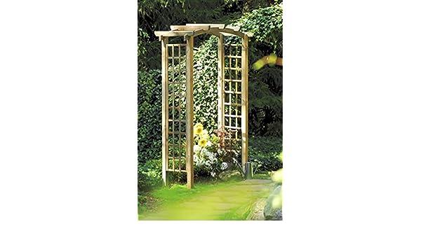 Olimpia pergola. Rosas fichas de madera de abeto para el jardín ...