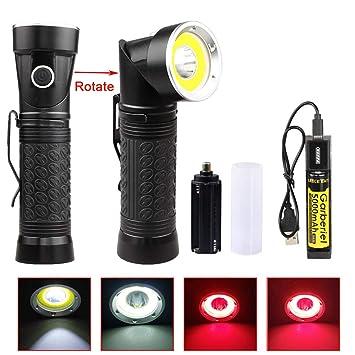 Torche Ultra Lampe Lumineuse Led Couleurs 2 Lumens 4000 Garberiel DYeHEI9W2
