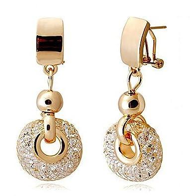La Vivacita ® drop Stardust Earrings with swarovski crystal 18ct gold  plated gift for women and girls  LA VIVACITA  Amazon.co.uk  Jewellery cf4b84c4e