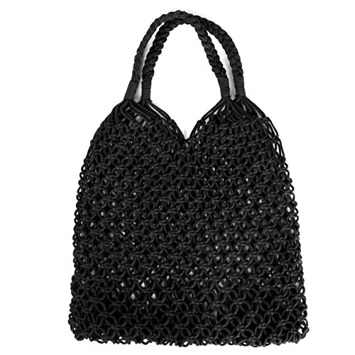 c1882788aef Women's Straw Handbags Large Summer Beach Tote Woven Round Handle Shoulder  Bag Mesh Beach Bag for Women