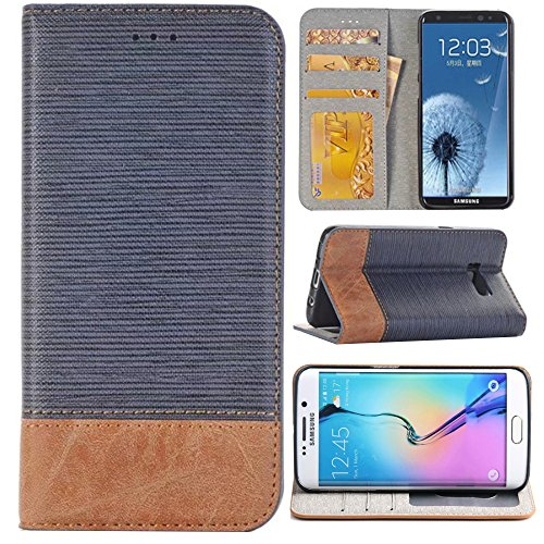 Galaxy Note 8 Cover 6.3'', Stand Feature Note 8 Case,Sammid Wallet Pu Leather Cover, Smart Flip Folio Case with Card Slot for Samsung Galaxy Note 8 - Light Blue by Sammid
