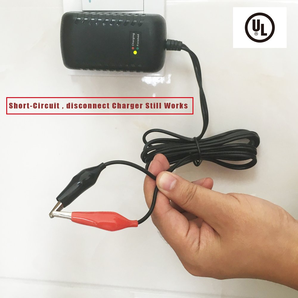 12v 1500ma Sealed Lead Acid Sla Smart Battery Charger With Sealedleadacid Circuits Alligator Clip