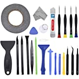 MMOBIEL 24 in 1 Professional PVC Suction Nylon Spudger Repair Toolkit Screwdriver Set with 2mm Adhesive Tape for Android and iOs Devices (Universal)