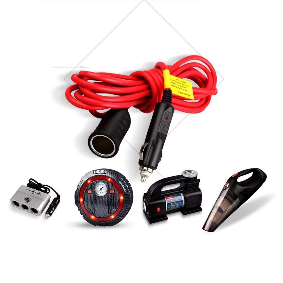 24V Kfz-Ladeger/ät mit Zigarettenanz/ünder 12V Zigarettenanz/ünder Stecker Verl/ängerungskabel 12ft 12V 15A Sicherung mit LED-Licht