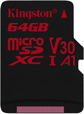 Kingston 64GB MICROSDHC Canvas React (SDCR/64GBSP)