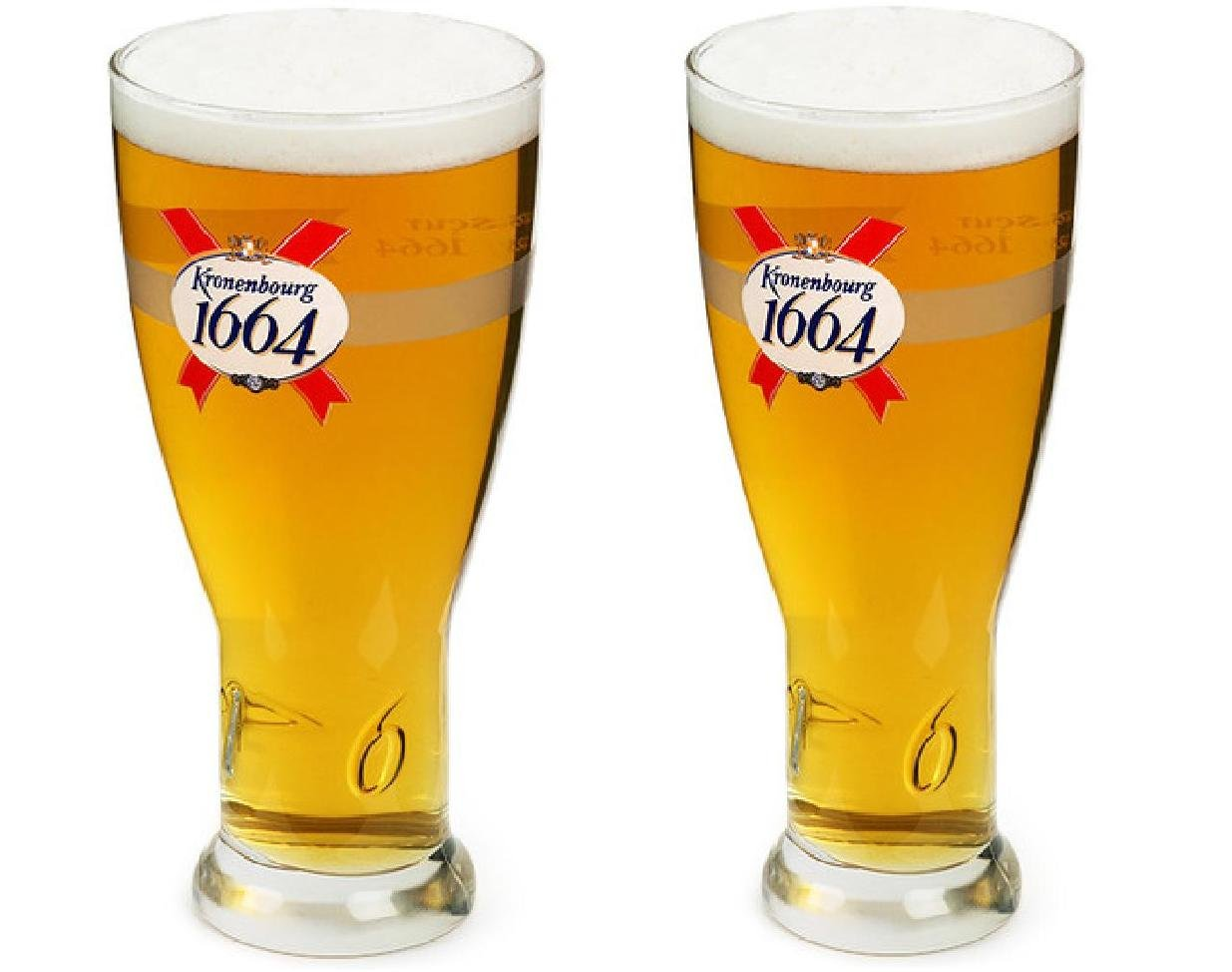 Kronenbourg Officially Licensed 3D Raised Glass  - Set of 2