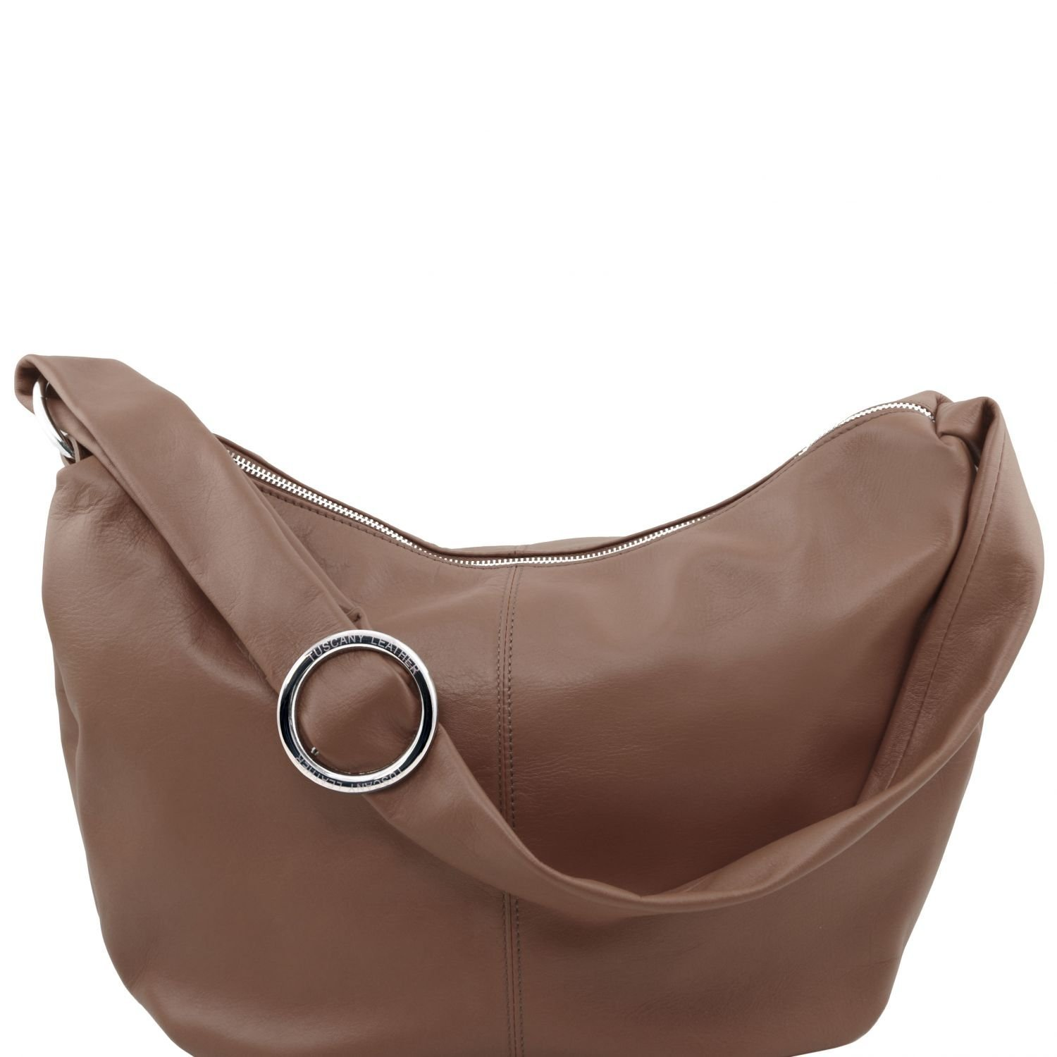 Tuscany Leather - Yvette - Leather hobo bag - TL140900 (Dark Taupe)