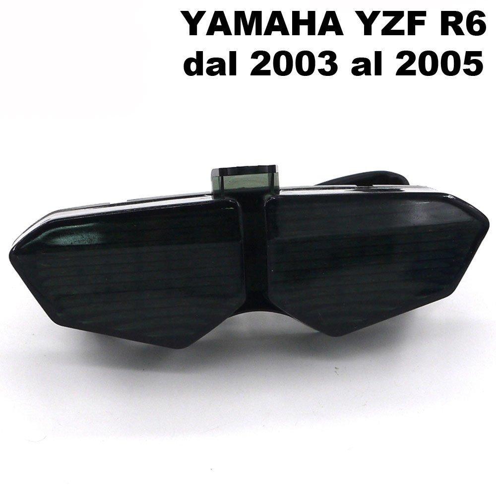 Faro LED fanale posteriore fume stop indicatori direzionali frecce Yamaha YZF R6 Vinciann