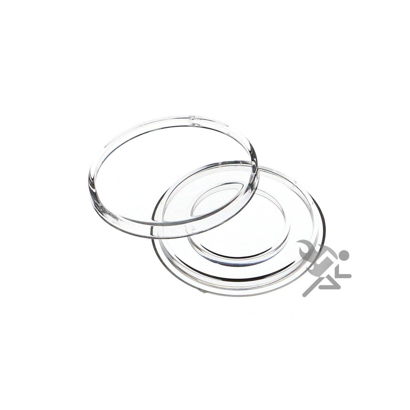 Black Capsule Tube /& 20 Air-Tite H27 Direct Fits 1//2oz Gold Eagle Coin Holder