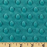 Shannon Minky Cuddle Dimple Teal Fabric By The Yard