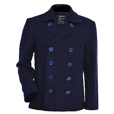 Seibertron Winterjacke Pea Peacoat Coat Marine Herren Mantel Übergangsjacke Navy Wollmantel Jacke Usn bYmI6gvf7y
