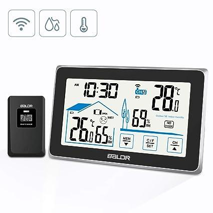 Wetterstation Funk Außensensor Barometer Wecker Thermometer Wettervorhersage