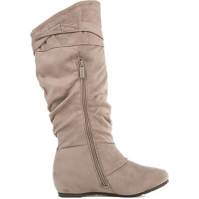 Women's Candies-06 Mid-Calf Boot Boot - Grey Size 6