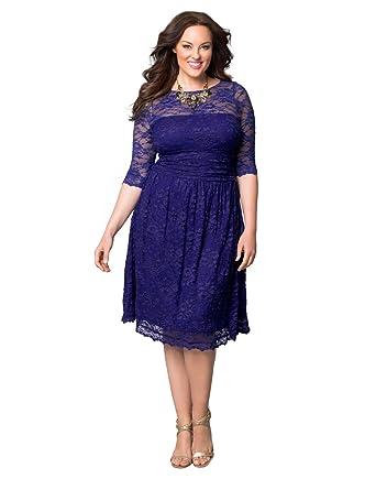 Amazon Kiyonna Womens Plus Size Scalloped Luna Lace Dress 5x