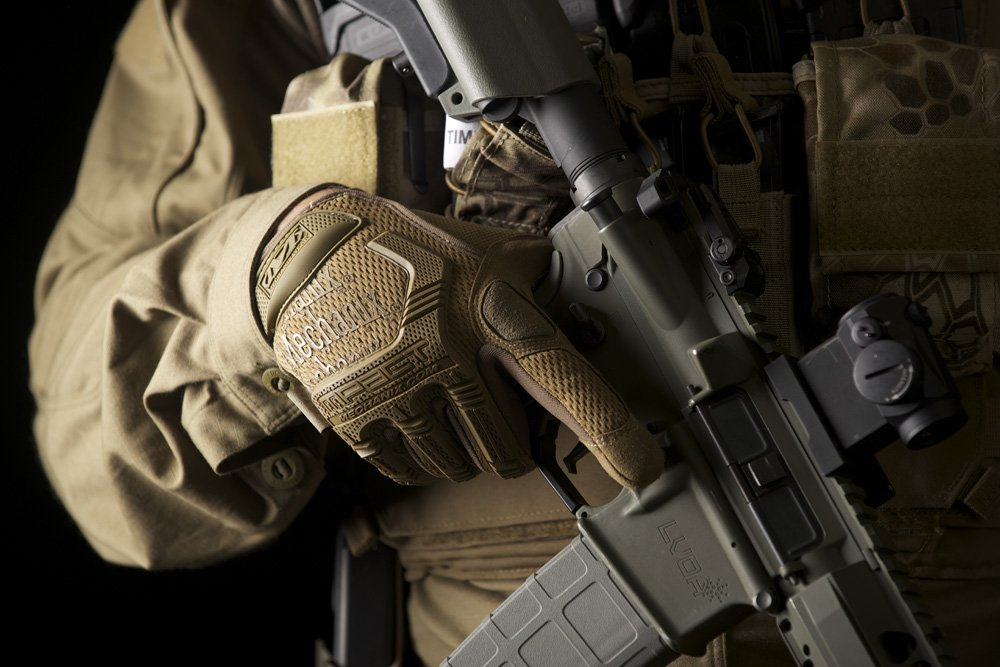 Mechanix Wear - M-Pact Coyote Tactical Gloves (Large, Brown) by Mechanix Wear (Image #4)