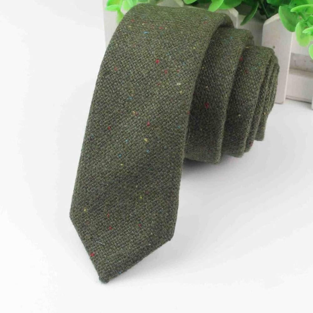 Corbata de lana Skinny Dot Narrow Knitted Tie Casual Corbatas de ...