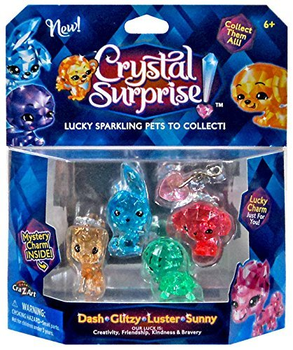 Crystal Surprise! Dash, Glitzy, Luster & Sunny Lucky Pets Figure 5-Pack [Random Colors!]
