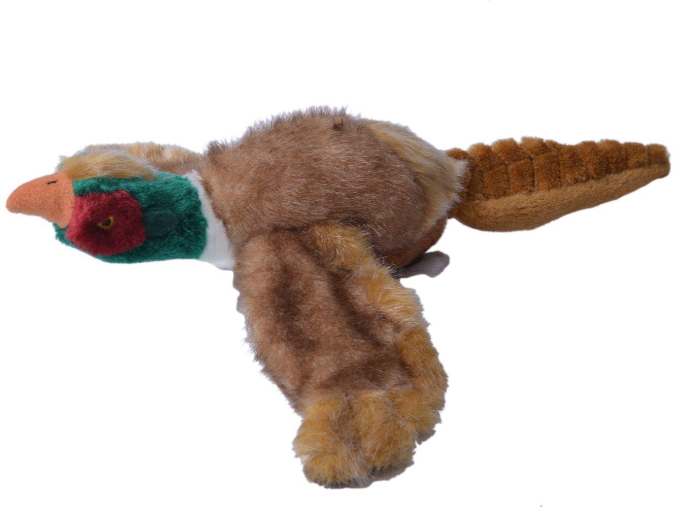 "EXPAWLORER Dog Squeaky Chew Toys Soft Plush for Puppy Medium to Large Breeds 17"" Pheasant"