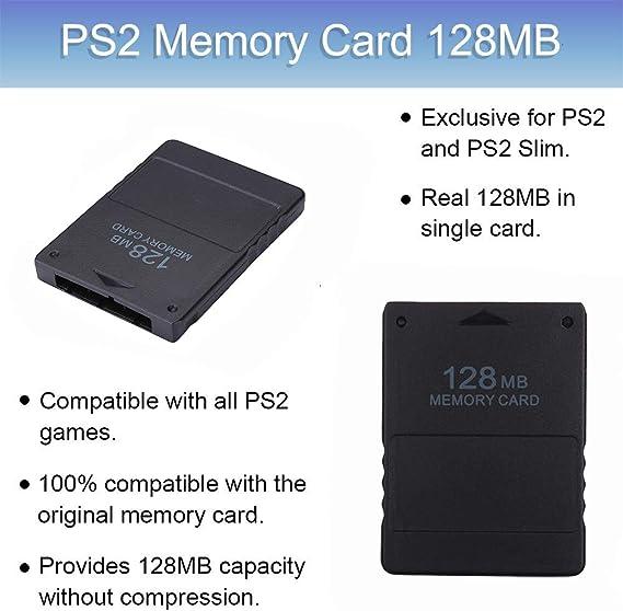 Amazon Com Playstation 2 Ps2 Memory Card 128mb Computers