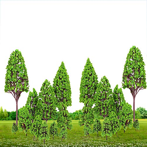 (TKI-S 12 x Model Green Landscape Trees, A Wonderful Decoration for House, Desk, Living Room(16~2.5cm / 6.30~0.98in))
