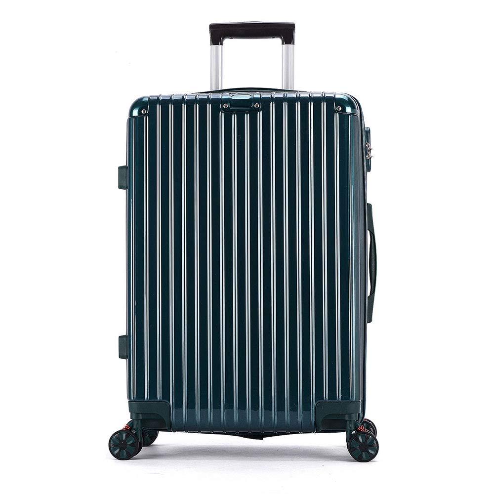 レトロジッパーボックス腹筋+ pcトロリーケースユニバーサルホイール荷物20インチ24インチスーツケース (Color : 緑, Size : 28 inches)   B07R2M9PPL